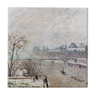 Carreau La Seine vue du Pont Neuf, hiver