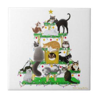 Carreau La tuile d'arbre de chat de Noël