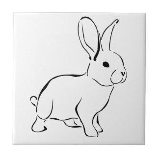 Carreau Lapin adorable de bande dessinée douce de lapin