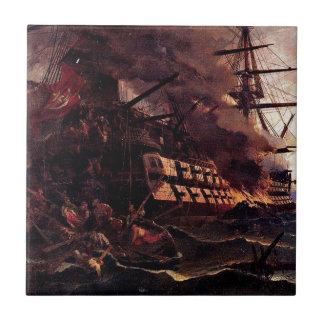 Carreau L'attaque sur le navire amiral turc dans le Golfe