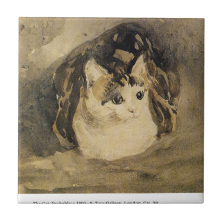 Carreau Le chat par Gwen John