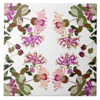 Carreau Le chèvrefeuille botanique fleurit l'art floral