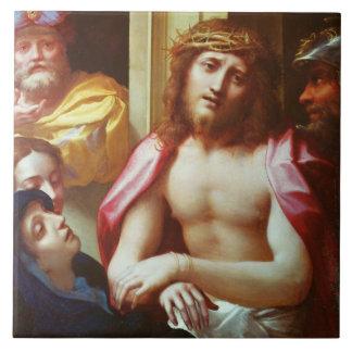 Carreau Le Christ s'est présenté aux personnes (l'ecce