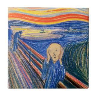 Carreau Le cri perçant par art moderne d'Edvard Munch (au