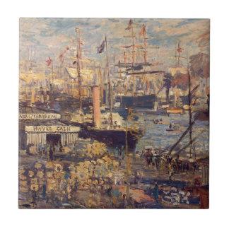Carreau Le dock grand chez le Havre par Claude Monet