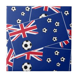 Carreau Le football du football de drapeau de l'Australie