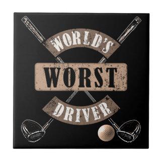 Carreau Le plus mauvais conducteur WWDa du monde