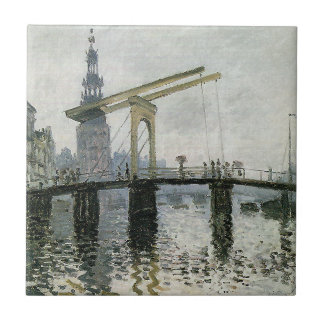 Carreau Le pont, Amsterdam par Claude Monet