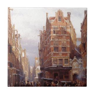 Carreau Le quart juif à Amsterdam Cornelis Springer