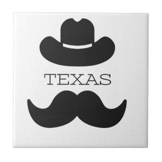 Carreau Le Texas dans le blanc