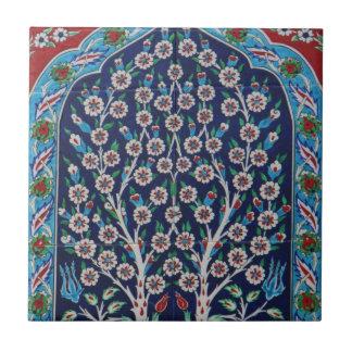 Carreau Le turc bleu et rouge couvre de tuiles l'ARBRE DE