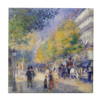 Carreau Les grands boulevards par Pierre-Auguste Renoir