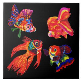Carreau Les poissons tropicaux de fantaisie conçoivent la