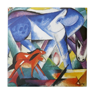 Carreau Les premiers animaux par Franz Marc