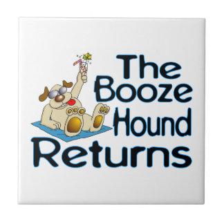 Carreau Les retours de chien de boissons alcoolisées