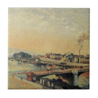 Carreau Lever de soleil à Rouen par Camille Pissarro