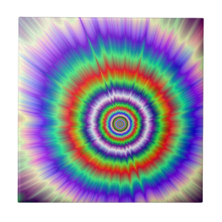 Carreau L'explosion de couleur teignent en nouant la tuile