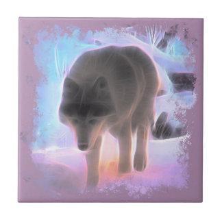Carreau Loup de l'aurore d'hiver