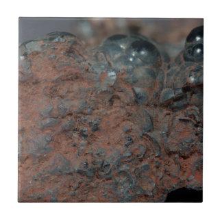 Carreau Macro photo de l'hématite de minerai de fer