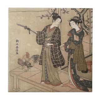 Carreau Madame vintage japonaise Woman Maiko de geisha de