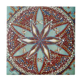 Carreau Mandala de fleur d'étoile