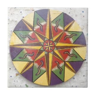 Carreau Mandala d'étoile de protection