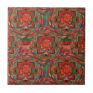 Carreau Mandala tibétain