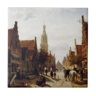 Carreau Marché Oudewater par Cornelis Springer