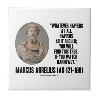 Carreau Marcus Aurelius celui qui se produise du tout se