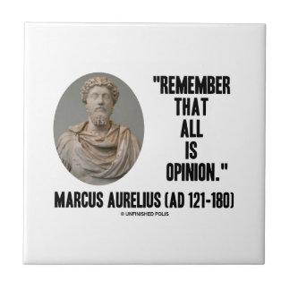 Carreau Marcus Aurelius se rappellent que tout est