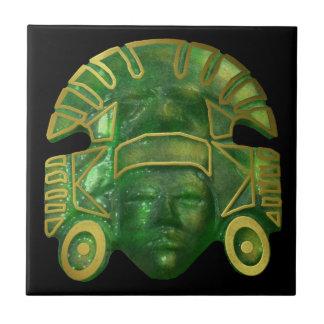 Carreau Masque aztèque antique de Sun