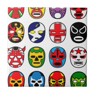 Carreau Masques de lutte mexicains de Lucha Libre Luchador