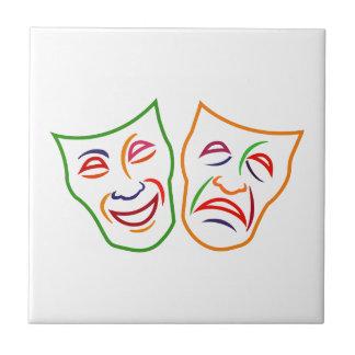 Carreau Masques de tragédie de comédie