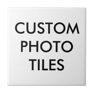 Carreau Modèle de blanc de tuile de photo personnalisé par