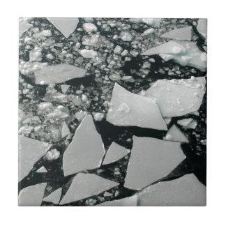 Carreau Morceaux de flottement de glace arctique cassée