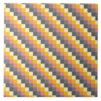 Carreau Motif abstrait de couleur de grille