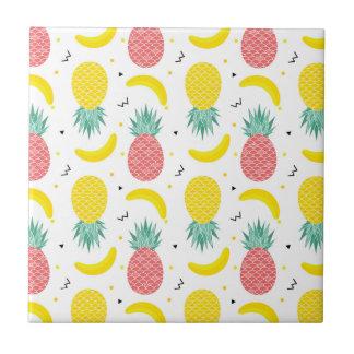 Carreau Motif coloré de fruit tropical