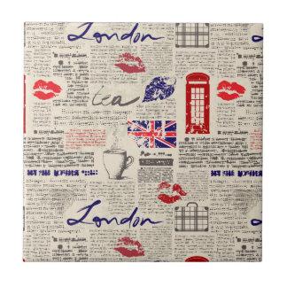 Carreau Motif de journal de Londres