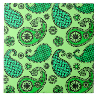 Carreau Motif de Paisley, jade et vert en bon état