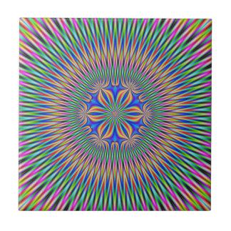 Carreau Motif floral de tuile en couleurs