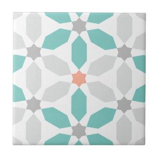 Carreau Motif géométrique bleu turquoise