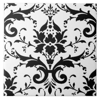 Carreau Motif noir et blanc de damassé