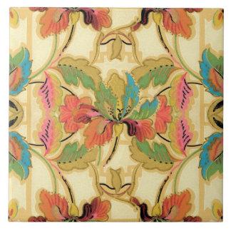 Carreau Motif orange vintage de papier peint floral de