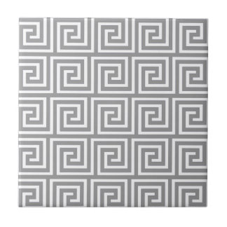 Carreau Motif principal grec gris et blanc classique