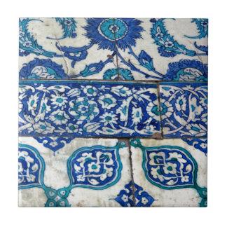 Carreau Motifs bleus et blancs d'iznik vintage classique