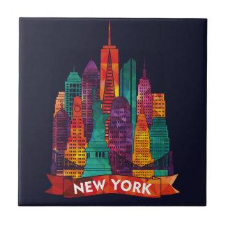 Carreau New York - voyage aux points de repère célèbres