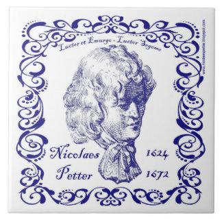 Carreau Nicolaes Petter - tuile bleue néerlandaise