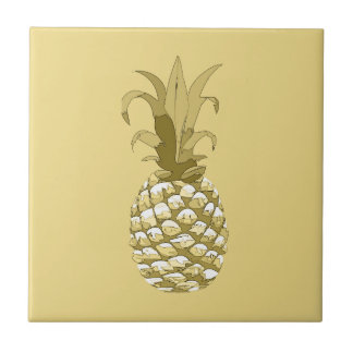 Carreau Or ID239 d'ananas