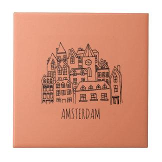 Carreau Orange néerlandaise de souvenir de ville