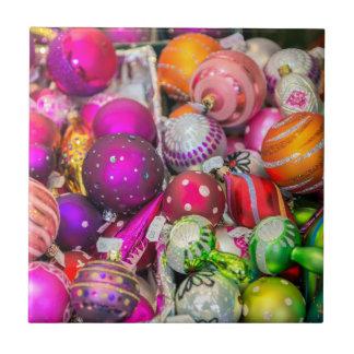 Carreau Ornements en verre traditionnels au marché de Noël